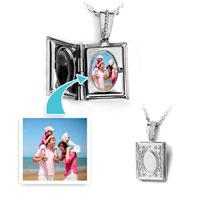Silver Squae Classic Pendant Necklace Beads Charms Bracelets