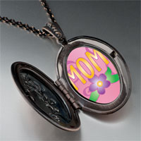 Necklace & Pendants - mom flower photo locket pendant necklace Image.