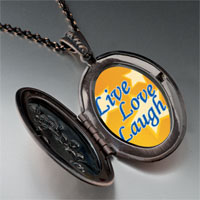 Necklace & Pendants - live love laugh photo photo locket pendant necklace Image.