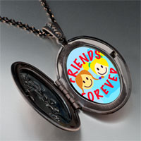 Necklace & Pendants - friends forever photo photo locket pendant necklace Image.