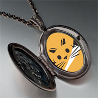 Necklace & Pendants - orange cat painting photo locket pendant necklace Image.