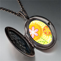 Necklace & Pendants - fun flowers photo locket pendant necklace Image.