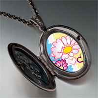 Necklace & Pendants - hearts &  flowers photo locket pendant necklace Image.