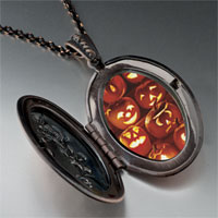 Necklace & Pendants - jack o lanterns photo locket pendant necklace Image.