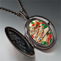 Necklace & Pendants - christmas necklace christmas tree gifts cookie halloween candy photo locket pendant necklace Image.