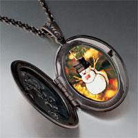 Necklace & Pendants - necklace christmas gifts snowman ornament photo locket pendant necklace Image.