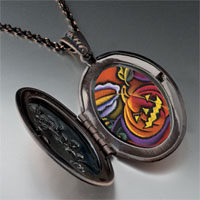 Necklace & Pendants - jack o lantern art photo locket pendant necklace Image.