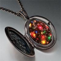 Necklace & Pendants - christmas lights photo locket pendant necklace Image.
