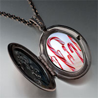 Necklace & Pendants - halloween candy cane land photo locket pendant necklace Image.