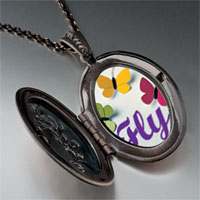 Necklace & Pendants - butterfly photo locket pendant necklace Image.