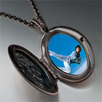 Necklace & Pendants - karate kick photo locket pendant necklace Image.