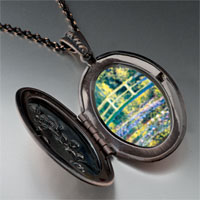 Necklace & Pendants - bridge at giverny photo locket pendant necklace Image.