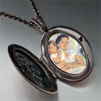 Necklace & Pendants - mary cassatt' s breakfast in bed photo locket pendant necklace Image.