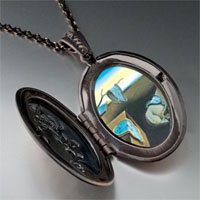 Necklace & Pendants - dali' s persistence memory photo locket pendant necklace Image.