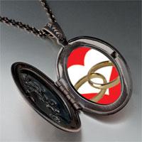 Necklace & Pendants - wedding ring heart photo locket pendant necklace Image.