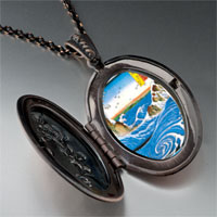 Necklace & Pendants - hiroshige' s navaro rapids photo locket pendant necklace Image.