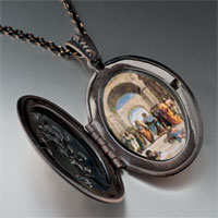 Necklace & Pendants - raphael' s school athens photo locket pendant necklace Image.
