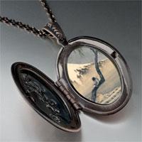 Necklace & Pendants - boy on mount fuji photo locket pendant necklace Image.