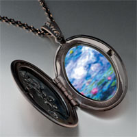 Necklace & Pendants - monet' s nympheas water lilies photo locket pendant necklace Image.