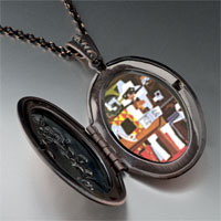 Necklace & Pendants - picasso' s musicians photo locket pendant necklace Image.