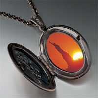 Necklace & Pendants - statue liberty sunset photo locket pendant necklace Image.