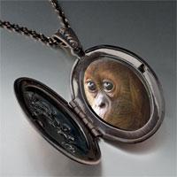 Necklace & Pendants - goofy monkey photo locket pendant necklace Image.