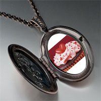Necklace & Pendants - chocolate cupcake love photo locket pendant necklace Image.