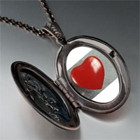 Necklace & Pendants - red heart photo locket pendant necklace Image.