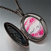 Necklace & Pendants - i love kiss photo locket pendant necklace Image.