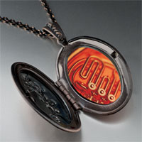 Necklace & Pendants - french horn photo locket pendant necklace Image.
