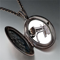 Necklace & Pendants - silver trumpet photo locket pendant necklace Image.