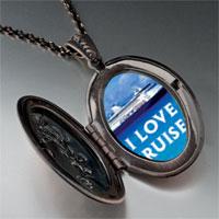 Necklace & Pendants - i love cruises photo locket pendant necklace Image.