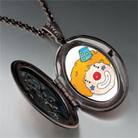 Necklace & Pendants - clown face photo locket pendant necklace Image.