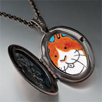 Necklace & Pendants - smiling bunny rabbit photo locket pendant necklace Image.