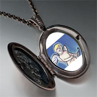 Items from KS - cupid bringing love photo locket pendant necklace Image.
