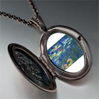Necklace & Pendants - monet water lilies photo locket pendant necklace Image.