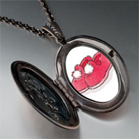 Necklace & Pendants - fuzzy red slippers photo locket pendant necklace Image.
