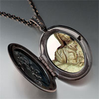 Necklace & Pendants - michelangelo pieta art photo locket pendant necklace Image.