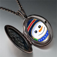 Necklace & Pendants - necklace halloween candy cane christmas gifts snowman photo locket pendant necklace Image.