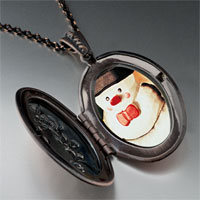 Necklace & Pendants - necklace christmas gifts snowman photo photo locket pendant necklace Image.