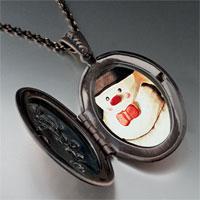 Necklace & Pendants - necklace christmas gifts snowman photo photo locket pendant necklace Image.