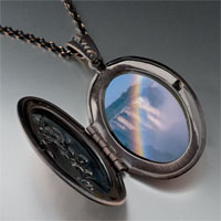Necklace & Pendants - rainbow waterfall photo locket pendant necklace Image.