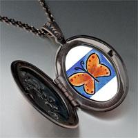 Necklace & Pendants - orange butterfly photo locket pendant necklace Image.