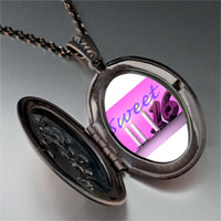 Necklace & Pendants - pink sweet sixteen photo locket pendant necklace Image.