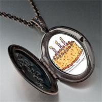 Necklace & Pendants - candles birthday cake photo locket pendant necklace Image.