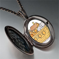 Necklace & Pendants - noah' s ark animals photo locket pendant necklace Image.