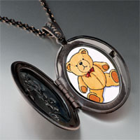 Necklace & Pendants - teddy bear red bow photo locket pendant necklace Image.