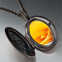 Necklace & Pendants - yellow calla lily flower photo locket pendant necklace Image.