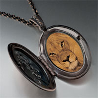 Necklace & Pendants - king jungle lion photo locket pendant necklace Image.