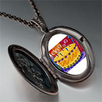 Necklace & Pendants - birthday cake candles photo locket pendant necklace Image.